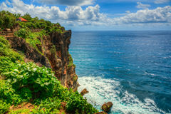 Temple by the Ocean. Beautiful Temple by the Ocean in Bali Indonesia Stock Photos