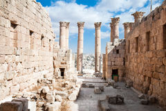 Temple Of Artemis In Jerash, Jordan. Stock Photo