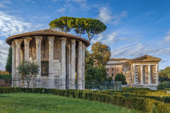 Free Temple Of Hercules Victor, Rome Stock Photo - 89154460
