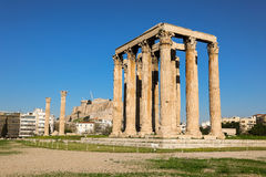 Free Temple Of Olympian Zeus And Acropolis Hill, Athens, Greece. Royalty Free Stock Photos - 91681908