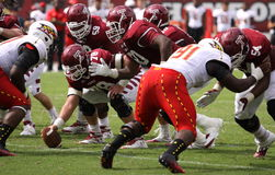 Temple offensive line jumps offsides Stock Photos