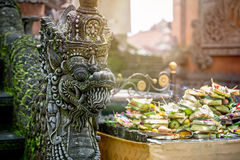 Temple offerings to Hindu God, Bali, Indonesia Royalty Free Stock Photography