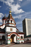 Temple in the Old Cheryomushki. Stock Image