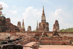 Temple in old city of Ayutthaya Stock Photo