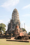 Temple in old city of Ayutthaya Royalty Free Stock Images