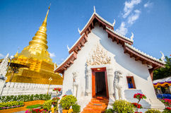 Temple. Old temple in Nan Thailand with gold pagoda Stock Photo