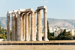 Temple of Olimpian Zeus, Athens, Greece Royalty Free Stock Photography