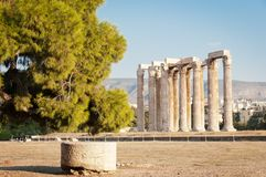 Temple of Olimpian Zeus, Athens, Greece Stock Photography