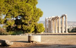 Temple of Olimpian Zeus, Athens, Greece Royalty Free Stock Photos