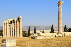 Temple of Olympian Zeus. The temple of Olympian Zeus in Athens, Greece Royalty Free Stock Photo