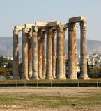 Temple of Olympian Zeus. Ruins of the Temple of Olympian Zeus in Athens, Greece, with Corinthian columns Royalty Free Stock Photography