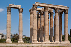 Temple of Olympian Zeus. The famous Olympieion (the Temple of Olympian Zeus ) in the greek capital Athens Stock Image