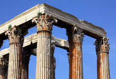 Temple of Olympian Zeus. In Athens, Greece Royalty Free Stock Photo