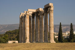 Temple of Olympian Zeus. Also known as the Olympieion, Athens, Greece Stock Photography