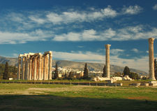 Temple of Olympian Zeus. In Athens , Greece Royalty Free Stock Image