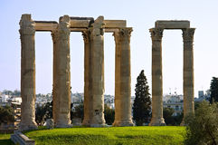 Temple of the olympian Zeus. The temple of Zeus in Athens, Greece Stock Photo