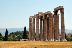 Temple of Olympian Zeus. In Greece Royalty Free Stock Photos