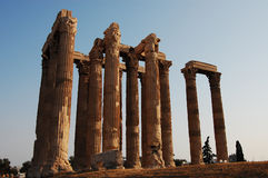 Temple of Olympian Zeus. In Athens stock image
