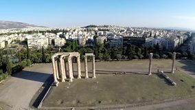 Temple of Olympian Zeus Aerial view Royalty Free Stock Image