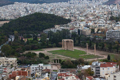 Temple of Olympian Zeus. Royalty Free Stock Photography
