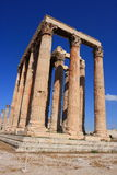 Temple of Olympian Zeus/Agrigento. A colossal ruined temple in the centre of the Greek capital Athens that was dedicated to Zeus, king of the Olympian gods Stock Photo