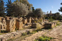 The Temple of Olympian Zeus. Agrigento, Italy. Altar of the Temple of Olympian Zeus Stock Photos