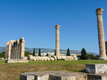Temple of Olympian Zeus. Ancient Temple of Olympian Zeus (Olympieion), Athens, Greece Royalty Free Stock Photos