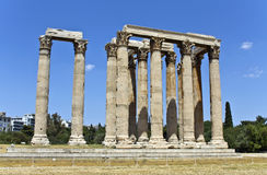 Temple of the Olympian Zeus at Athens Stock Photos
