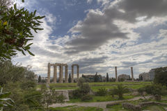 Temple of Olympian Zeus in Athens Royalty Free Stock Image