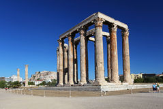 The Temple of Olympian Zeus in Athens. Greece Royalty Free Stock Photo
