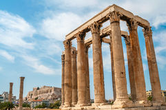 The Temple of Olympian Zeus. In Athens Royalty Free Stock Images