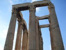 Temple of Olympian Zeus. In Athens stock photography