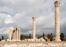 Temple of Olympian Zeus Athens Royalty Free Stock Photography