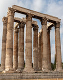 Temple of Olympian Zeus Athens. The archaeological site of the Temple of Olympian Zeus with its corinthian columns Stock Images
