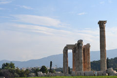 Temple of Olympian Zeus Stock Images
