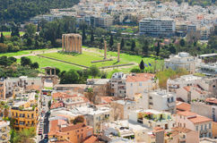 Temple of the Olympian Zeus at Athens Stock Images