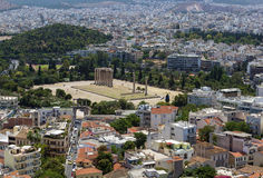 Temple of Olympian Zeus, Athens Stock Images
