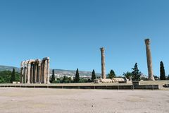 Temple of Olympian Zeus in Athens, Greece. The Temple of Olympian Zeus in Athens, Greece Stock Photos