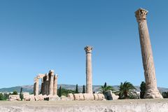 Temple of Olympian Zeus in Athens, Greece. The Temple of Olympian Zeus in Athens, Greece Royalty Free Stock Photos