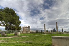 Temple of Olympian Zeus in Athens,Greece Royalty Free Stock Images