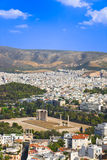 Temple of the Olympian Zeus at Athens, Greece. View from Acropolis Royalty Free Stock Photography