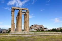 Temple of Olympian Zeus, Athens, Greece stock photos