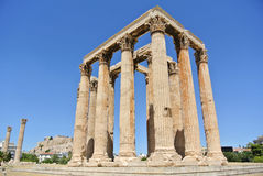 The Temple of Olympian Zeus Royalty Free Stock Photography