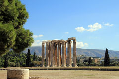 Temple of Olympian Zeus. In Athens, Greece Stock Photo