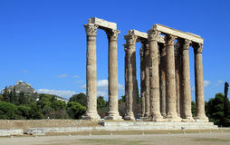 Temple of Olympian Zeus. In Athens, Greece Stock Photos