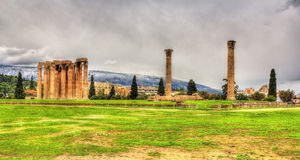 Temple of Olympian Zeus in Athens Stock Photo