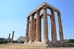 Temple of the Olympian Zeus. At Athens, Greece Royalty Free Stock Image