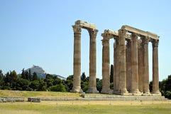 Temple of Olympian Zeus Athens Greece. The Temple of Olympian Zeus in Athens Greece Royalty Free Stock Photos