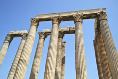 Temple of Olympian Zeus Athens Greece. The Temple of Olympian Zeus in Athens Greece Royalty Free Stock Image