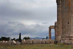 Temple of Olympian Zeus, Athens. Temple of Olympian Zeus in Athens, Greece Stock Photography
